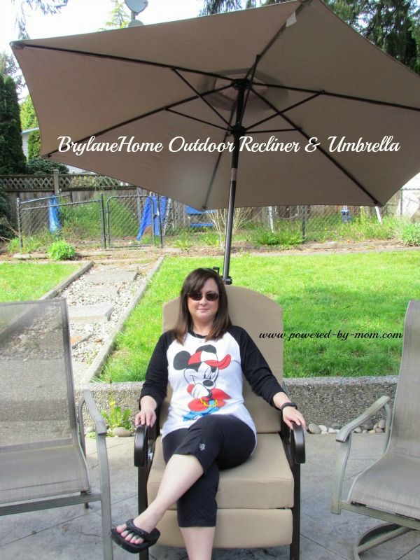 BrylaneHome recliner and umbrella