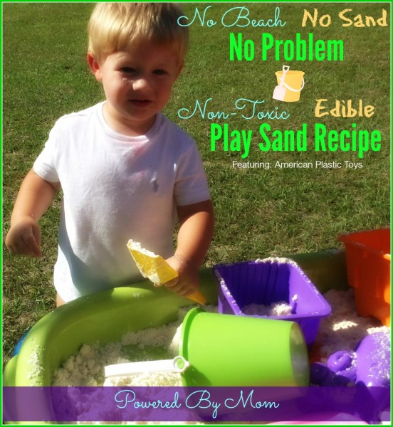 Play Sand Recipe #NonToxic & Edible for Toddlers Who Are Still Exploring by Putting Everything In Their Mouths | Flour and Vegetable Oil | American Plastic Toys #MadeInAmerica Sand Table