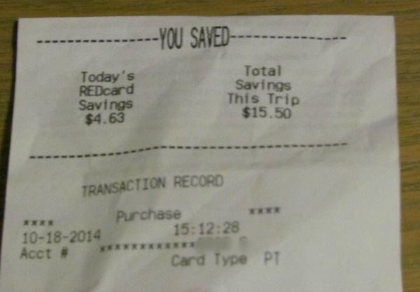 REDCard savings Target