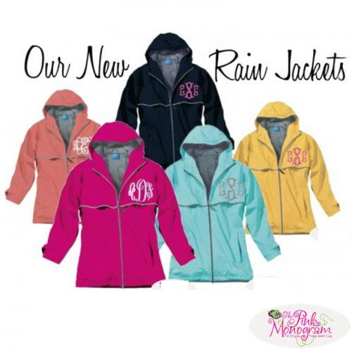 pink monogram rain jacket short
