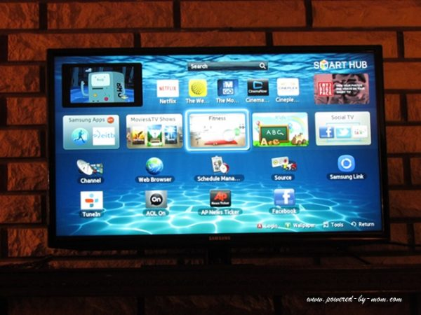 samsung tv screen