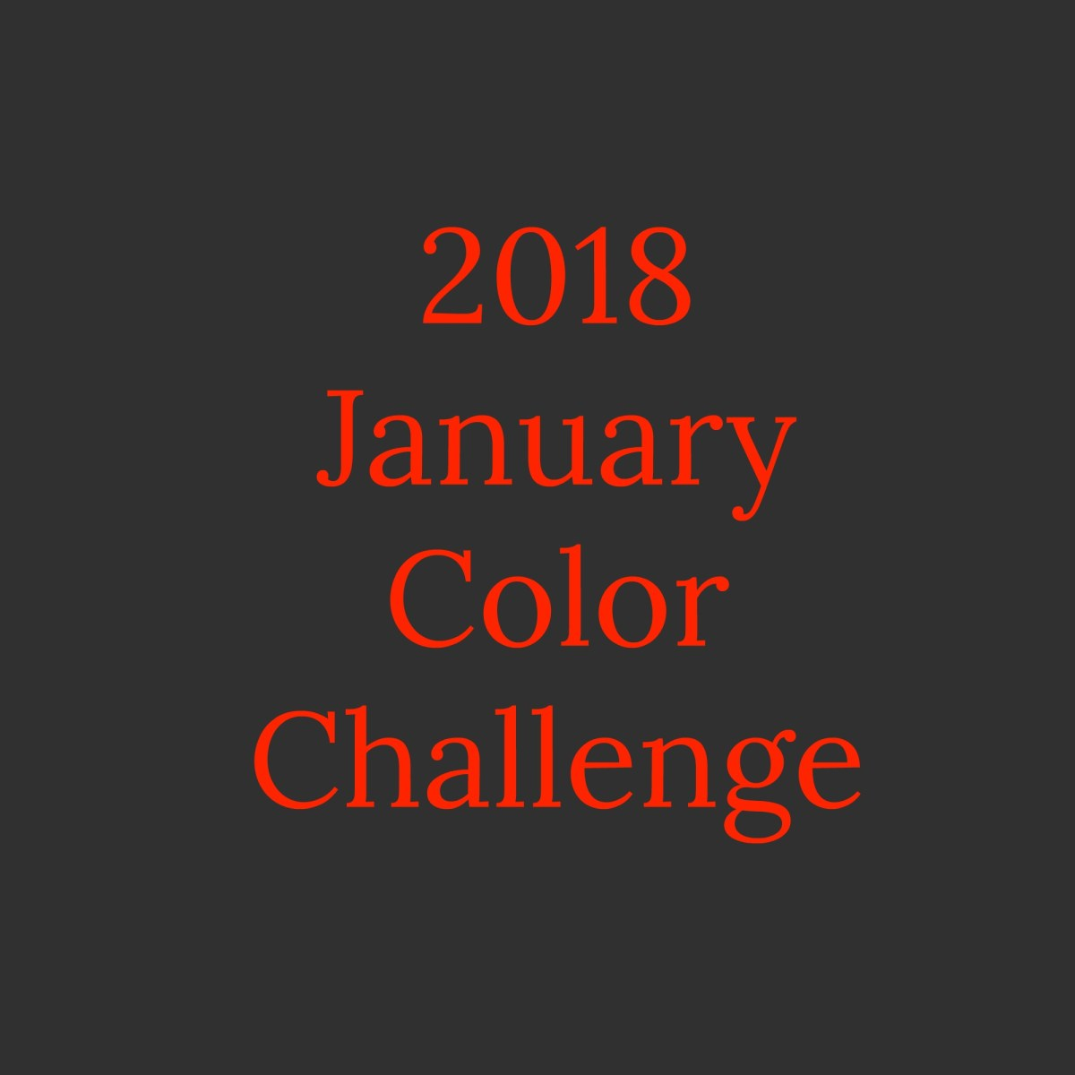January Color Challenge Block!