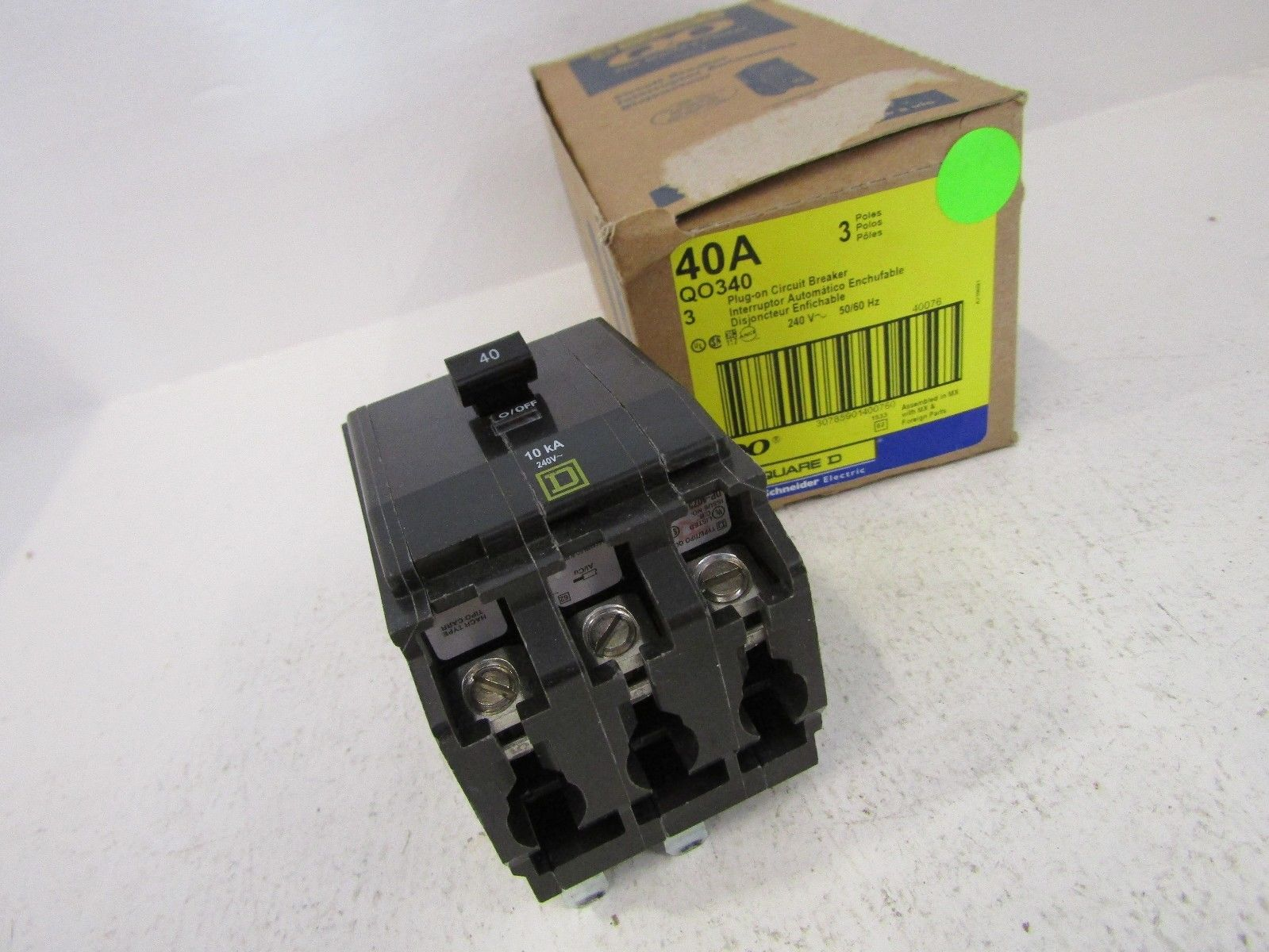 NEW SQUARE D QO QO340 3 POLE 40 AMP BREAKER 3P 40A 240V QO
