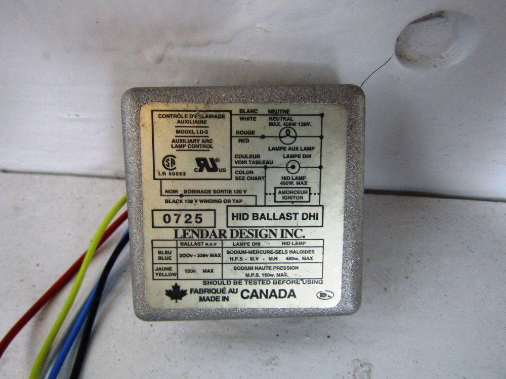 medium resolution of lendar design ld 2 120 volt 400 watt dhi hid ballast