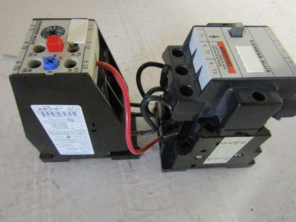 medium resolution of siemens allis cxl00 3 3 pole size 0 contactor