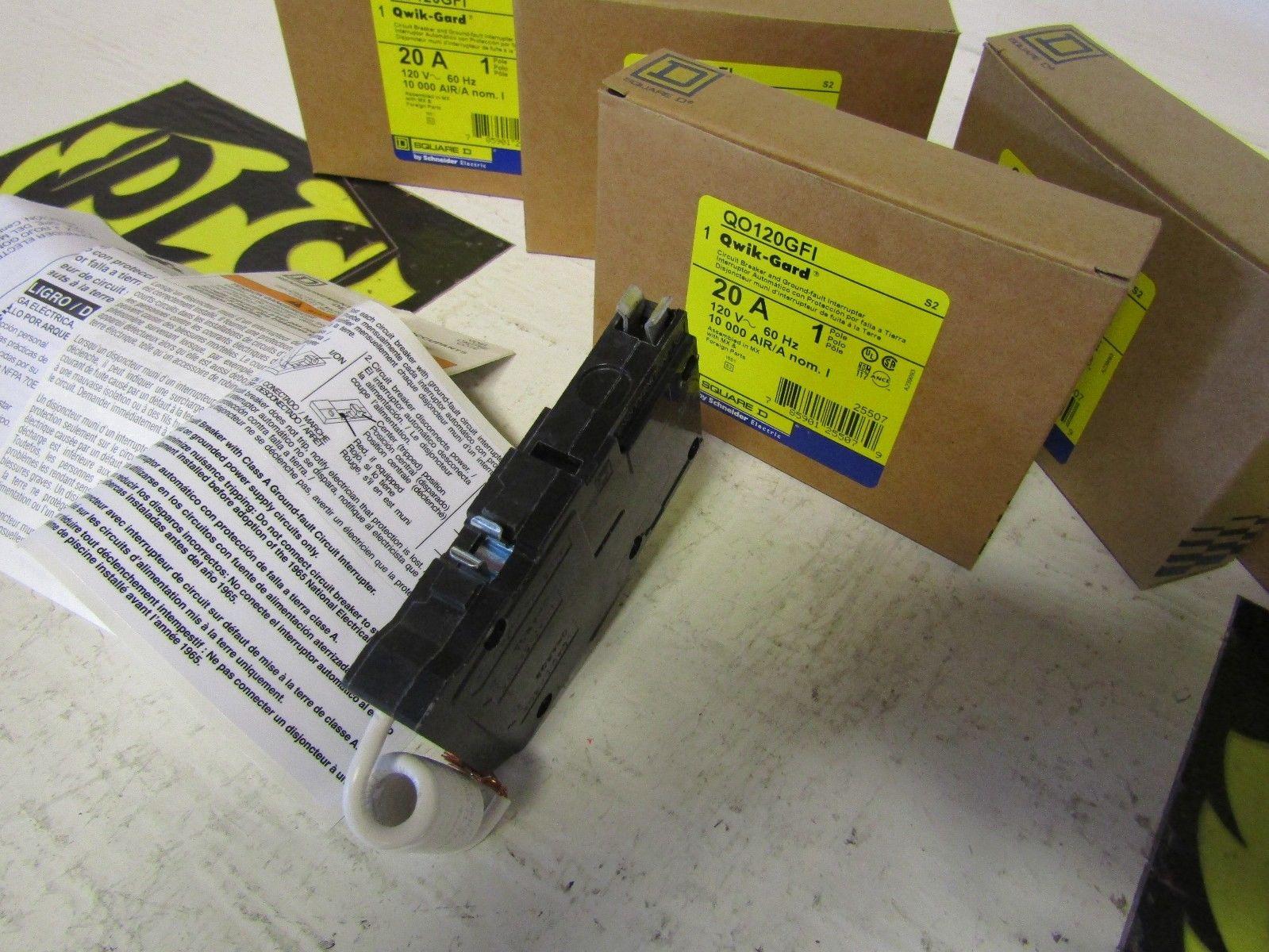 Qo120gfi Plug In Gfi Gfci Circuit Breaker 20a 1 Pole 10ka 120v