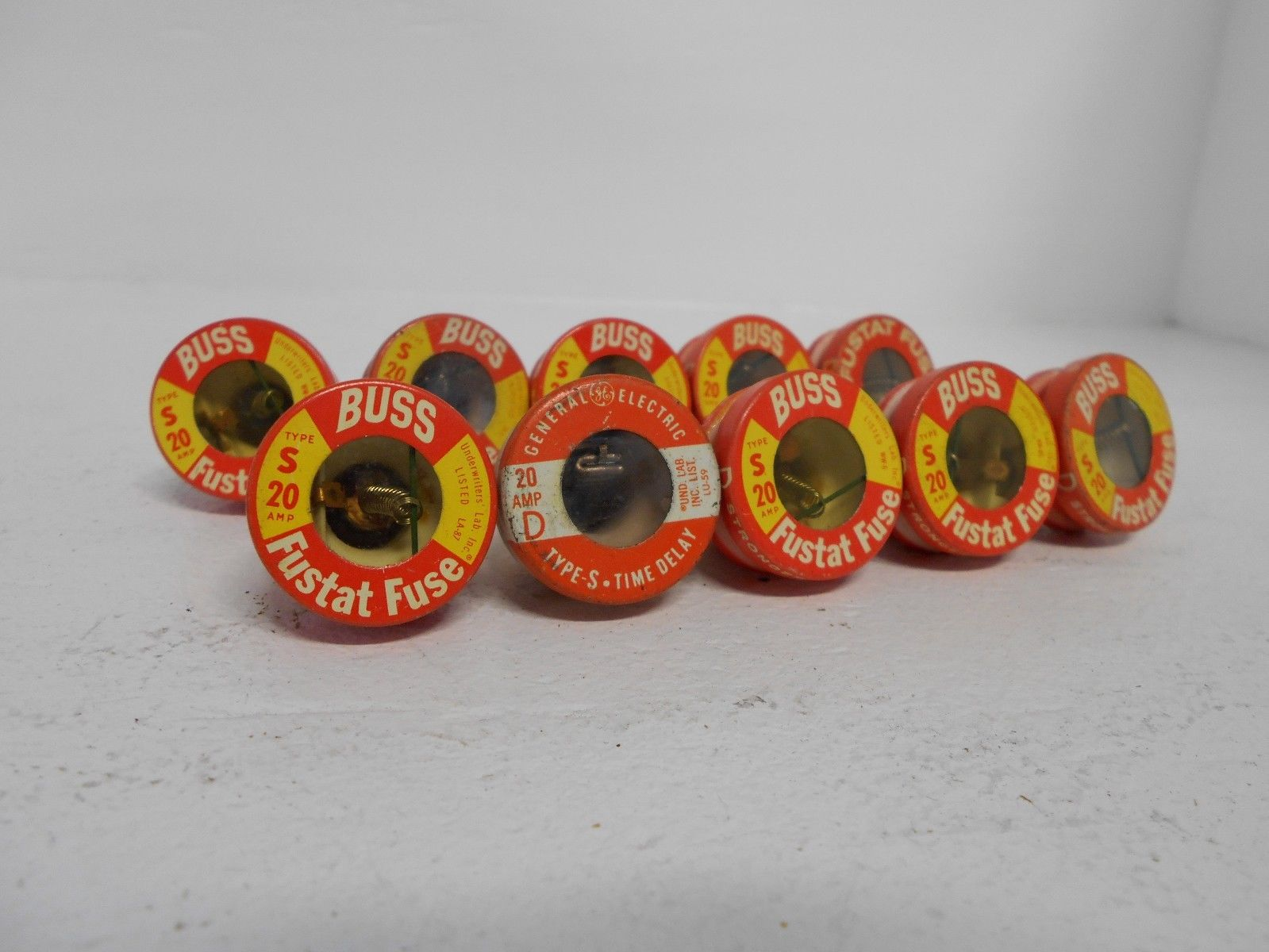 hight resolution of mix lot of 10 buss fustat ge fuse type s 20 amp