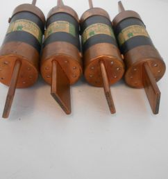 lot of 4 royal noark fuses 350 amp 250 volt non 350 royal electric rh poweredelectricsupply com fuse box antique glass fuses [ 1599 x 1200 Pixel ]