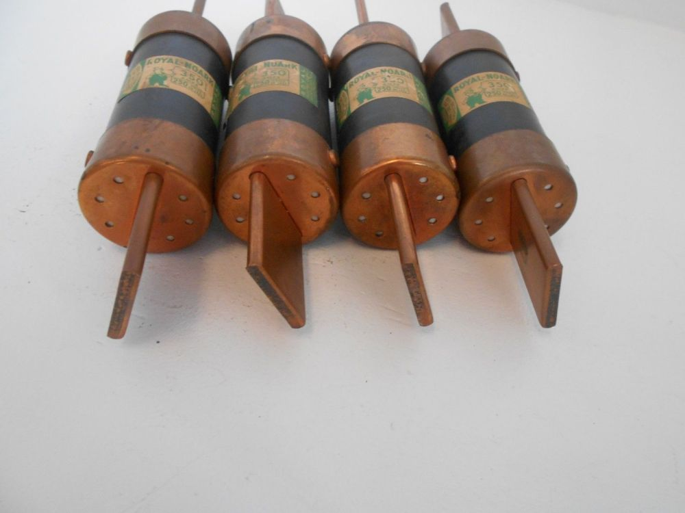 medium resolution of lot of 4 royal noark fuses 350 amp 250 volt non 350 royal electric rh poweredelectricsupply com fuse box antique glass fuses
