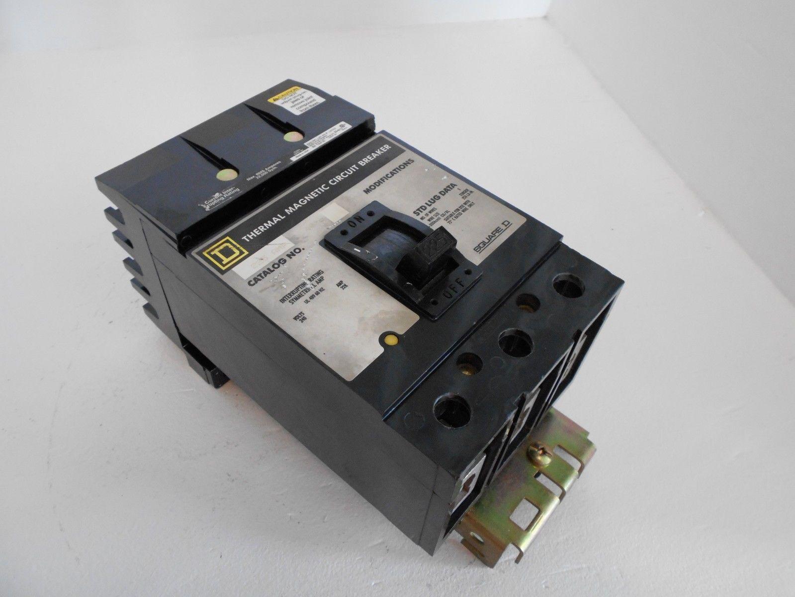 Square D Q H Molded Case Breaker Bolt On 3 Pole 225 Amp 240 V Type Q2