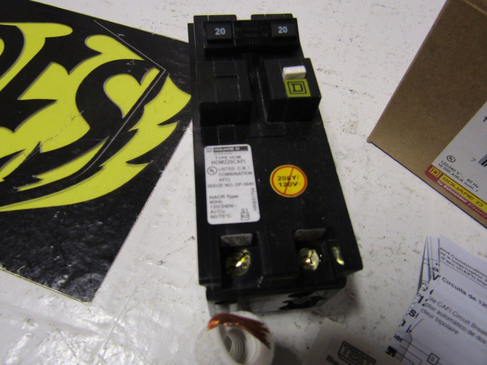 Square D Circuit Breaker Hom 220 Tipo 10ka 20a Breakers