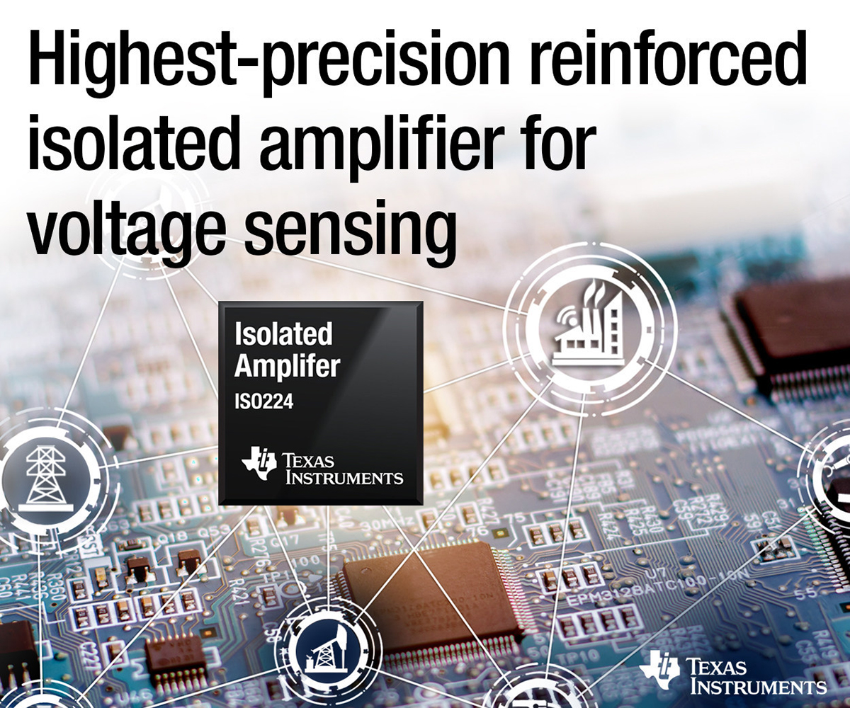 TI reinforced isolated amplifier enables longest lifetimes for voltage sensing