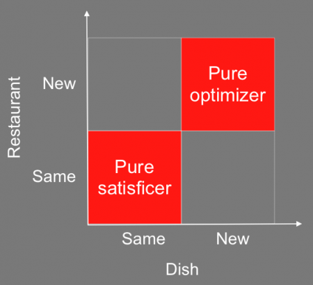 A skilled problem solver must balance satisficing and optimizing as neither extreme is beneficial.