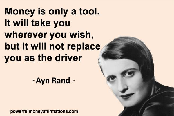 Image result for money ayn rand