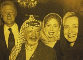 """Clintons happy with PLO leader """"Yes he has a fat"""""""