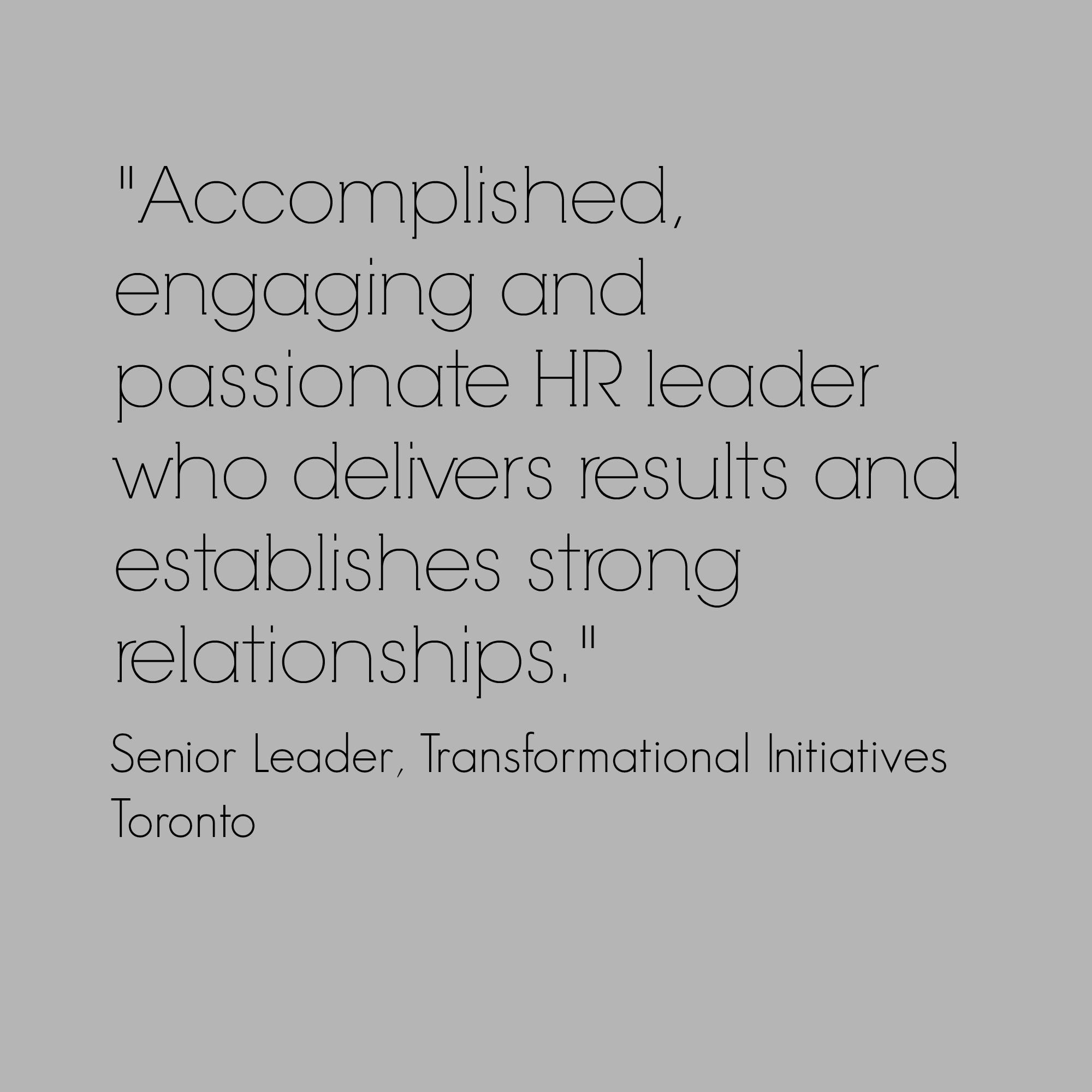 passionate HR leader