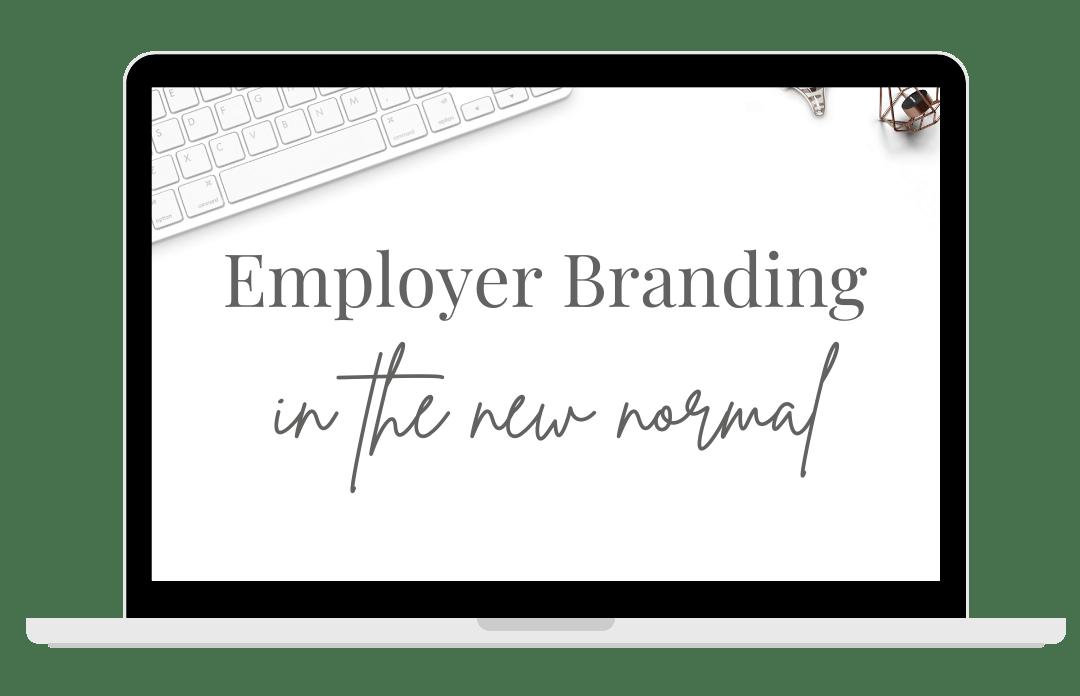Employer branding webinar picture of a laptop