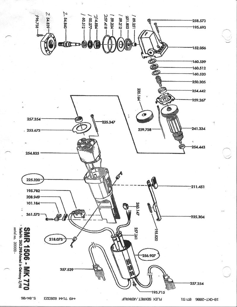 parts for smr1506 mk770 newer
