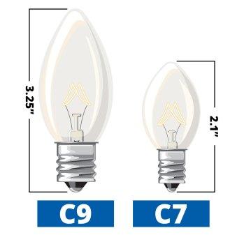 C9 and C7 lightbulb