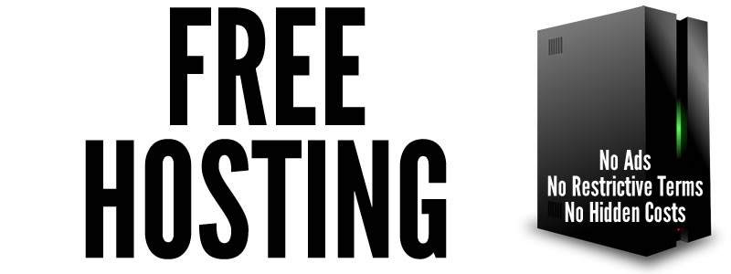 Free Web Hosting with no hidden costs, no adverts, and no restrictive terms.