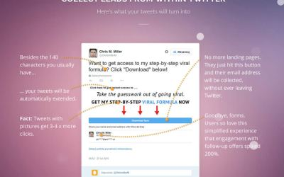 TweetLead – Leads from a Twitter Tweet – One-click Signup Buttons Inside Your Tweets