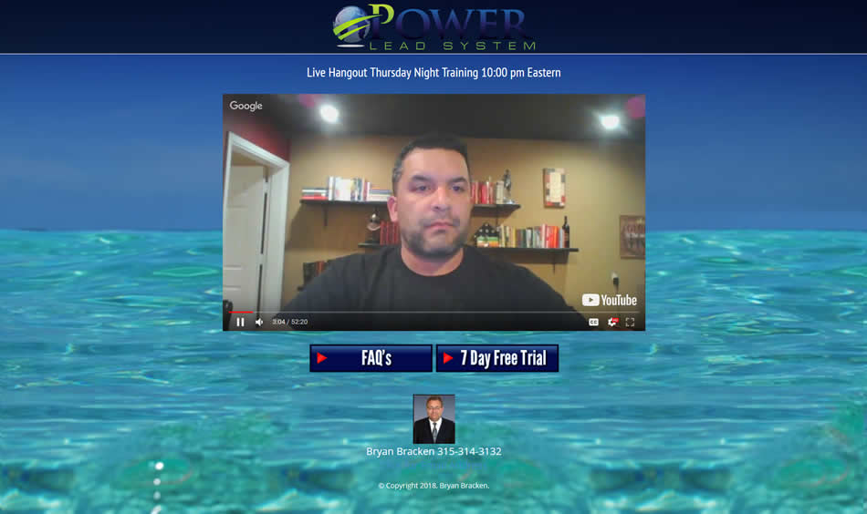 Hangout Share Codes for the Power Lead System Wednesday and Thursday Night Webinars