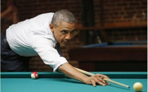 Obama Shoots Pool copy