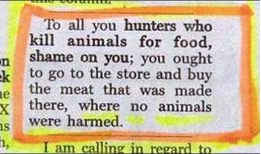 Hunting versus meat copy