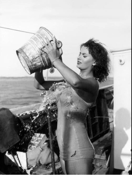 Doing the ice bucket challenge before it was cool.