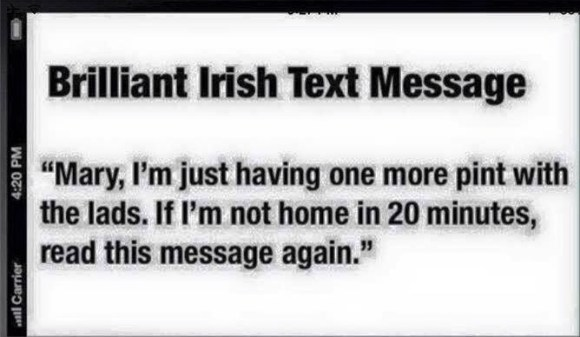 Irish Text Message copy