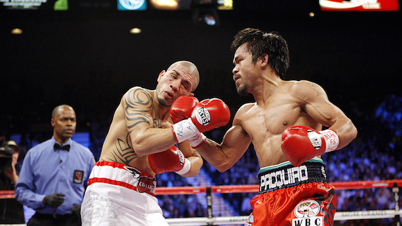 Manny Pacquiao and Miguel Cotto in 2009