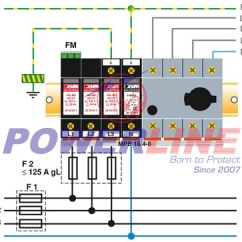 Surge Arrester Wiring Diagram Ford F350 Ignition Switch Diagrams For Arresters Phoenix Contact 40ka Type 2 Ac Val Ms 320 3 1 Transformer