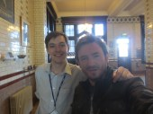 Myles with Michael Marshall (The good thinking society and returning NERD!!!)