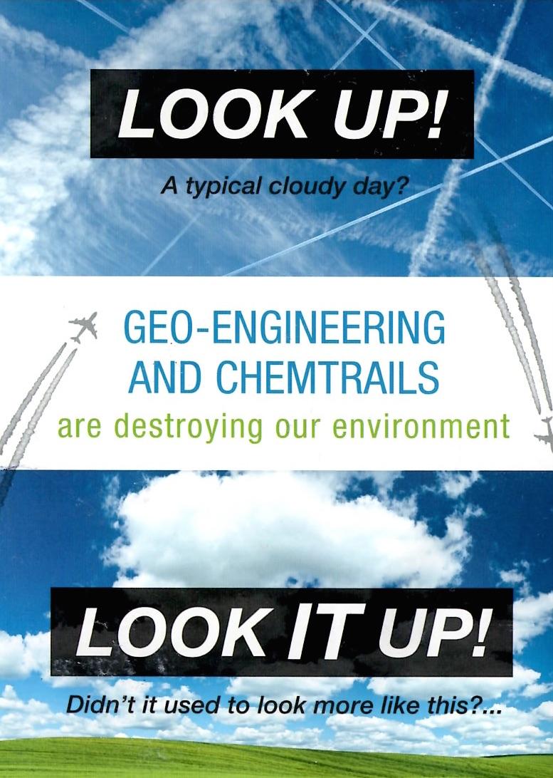 Chemtrails  Geoengineering Protest Flyers  Myles Power