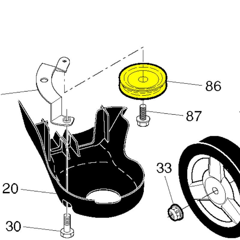 580364301 Husqvarna PULLEY AWD IDLER