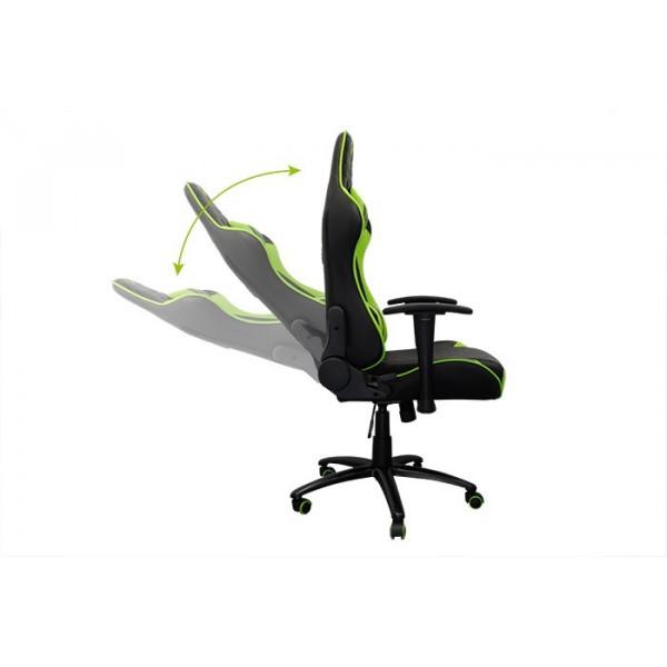 silla gamer droxio troun negra verde