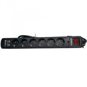 REGLETA PROTEGIDA RIELLO THUNDER 6002 6 TOMAS+USB