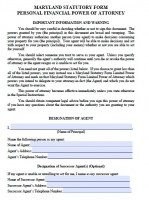 Free Maryland Power Of Attorney Forms | PDF Templates