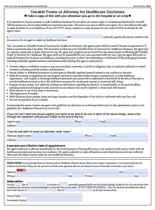 power of attorney oregon Free Medical Power of Attorney Oregon Form – Adobe PDF