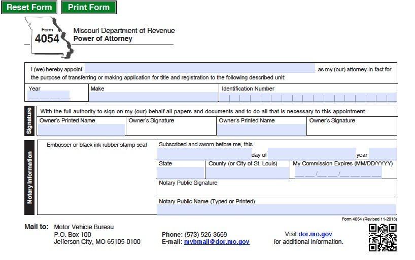 Form 4054