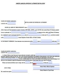 Free Revocation for Power of Attorney North Carolina Form ...