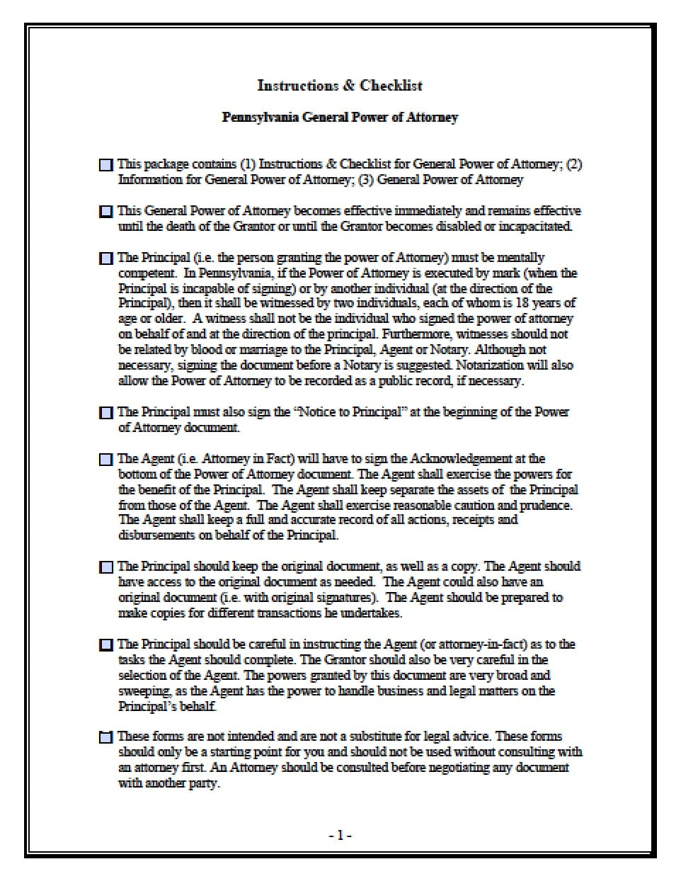 power of attorney form pennsylvania  Power Of Attorney Form Pa | Free Resume Templates ...
