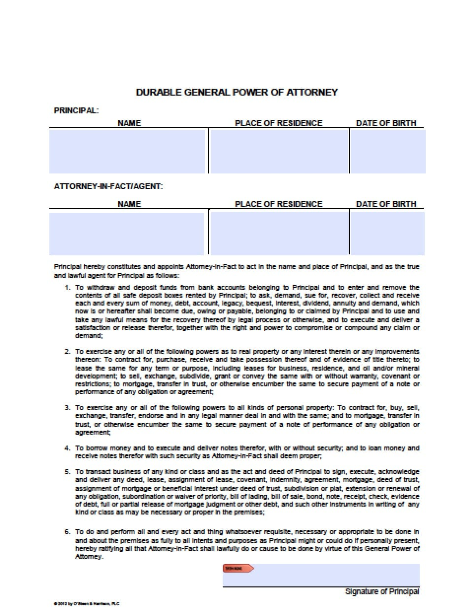 picture about Free Printable Power of Attorney Forms Online known as Totally free Arizona Energy of Lawyer Sorts in just Fillable PDF 9