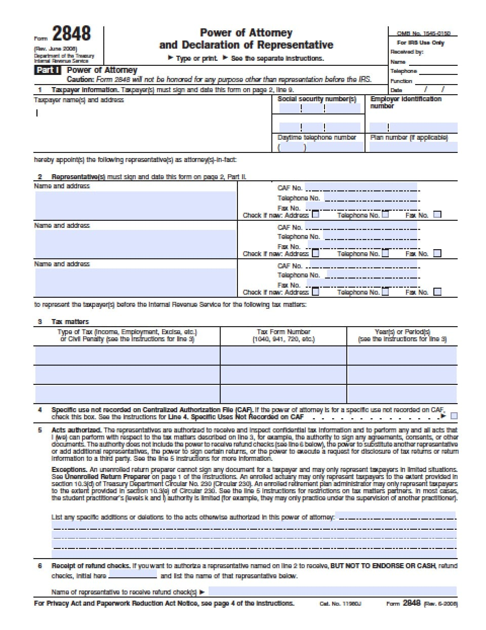 power of attorney form 1040  Delaware Tax Power of Attorney Form - Power of Attorney ...