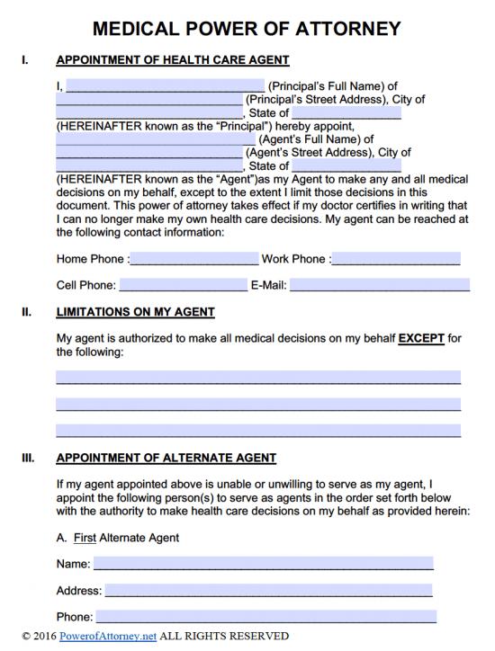 Medical POA - Adobe PDF - Microsoft Word (.docx)