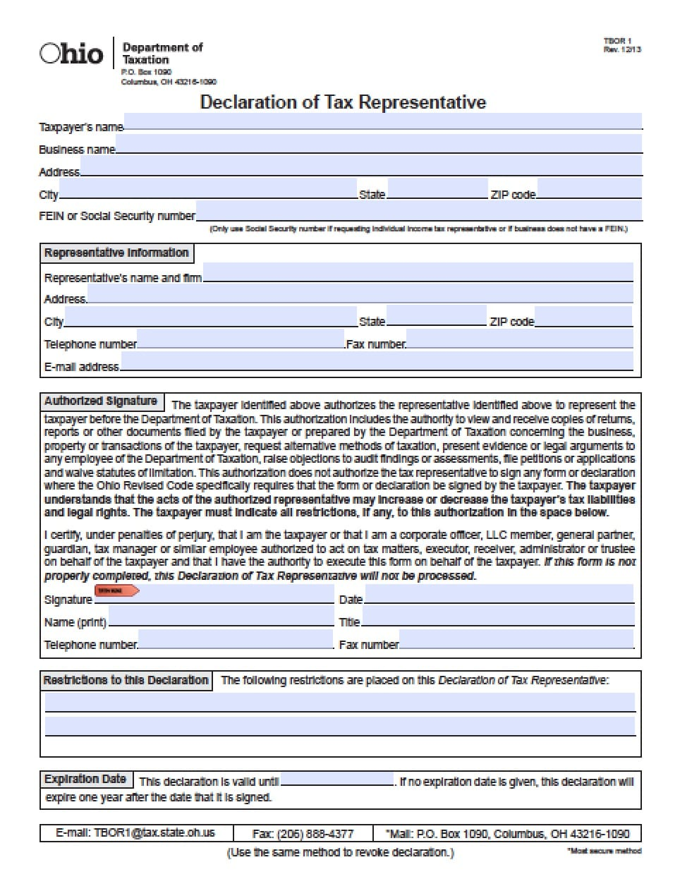 Ohio Minor Child Power of Attorney Form - Power of Attorney ...
