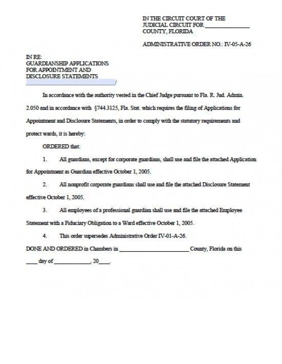 Florida Minor Child Power of Attorney Form