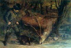 Gustave-Courbet-The-German-Huntsman