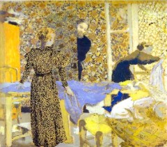 1 Jean Édouard Vuillard (French artist, 1868-1940) 1893 The Studio or The Suitor
