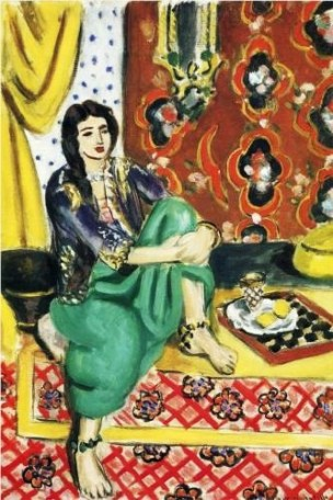 1928 Henri Matisse (French artist, 1869–1954) Odalisque Sitting with Board 1928